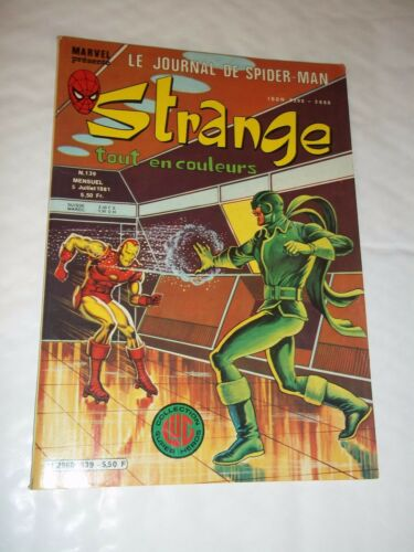 """STRANGE no 139"" (1981) MARVEL / LUG / DAREDEVIL / IRON MAN / SPIDERMAN / ROM"