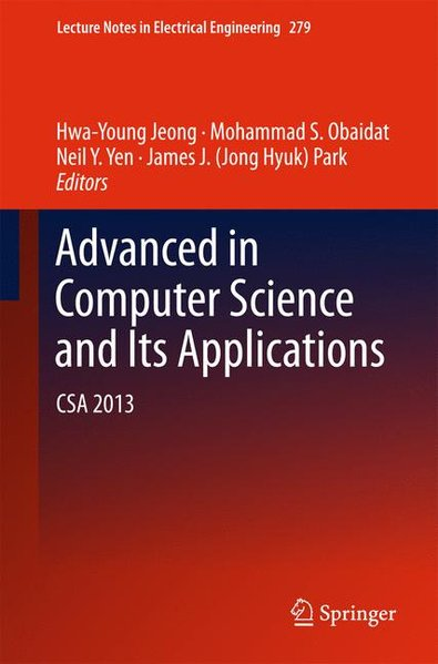 Advances in Computer Science and its Applications CSA 2013