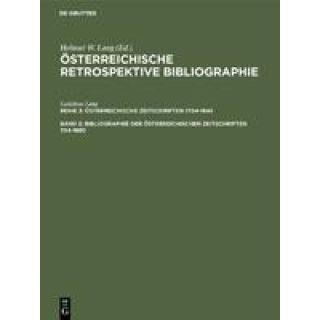 Bibliographie der österreichischen Zeitschriften 1704-1850 - M-Z