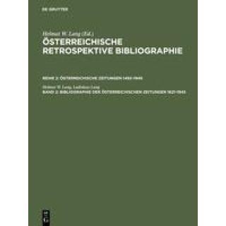 Bibliographie der österreichischen Zeitungen 1621-1945 - A - M