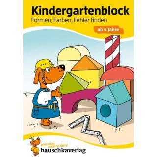 Kindergartenblock - Formen, Farben, Fehler finden ab 4 Jahre